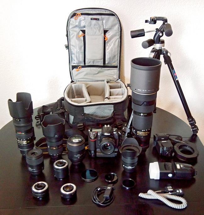 equipaggiamento fotografico