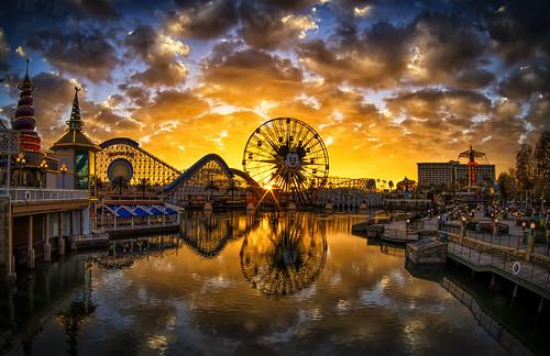 Golden Hour On Paradise Pier