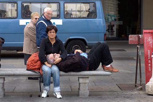 foto con gente di città