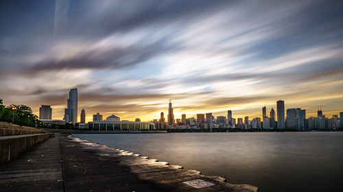 Chicago skyline at sunset - United State by j0sh (www.pixael.com), on Flickr