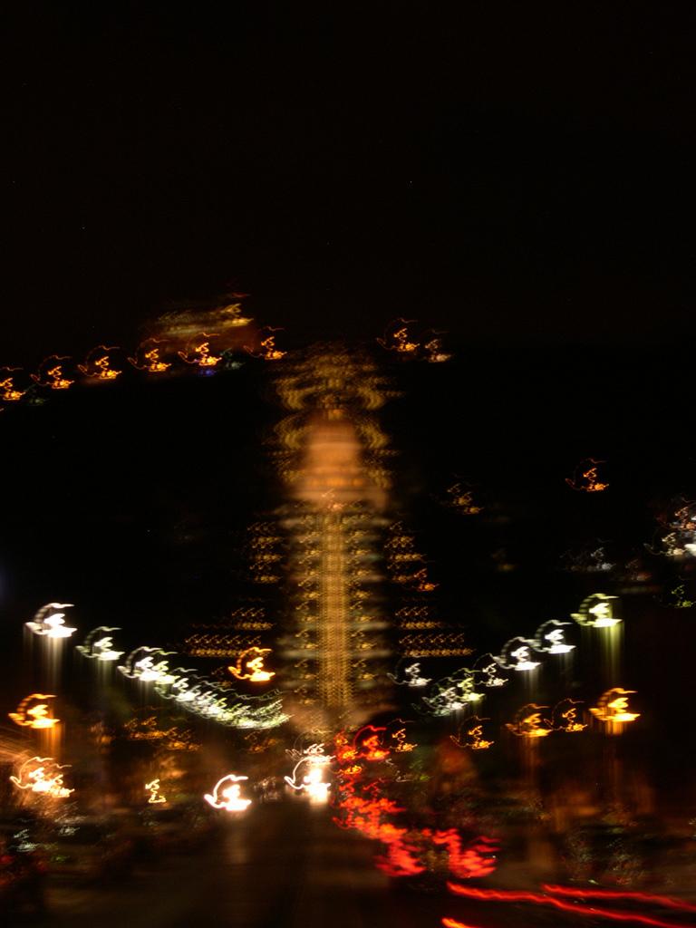 Foto notturna mossa