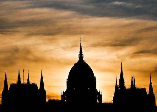 Hungarian Parliament Building Silhouette by Sergiu Bacioiu, on Flickr