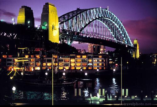 Sydney Harbour Bridge at Night by laurenz, on Flickr