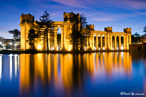 Palace of Fine Art twilight water reflec by davidyuweb, on Flickr