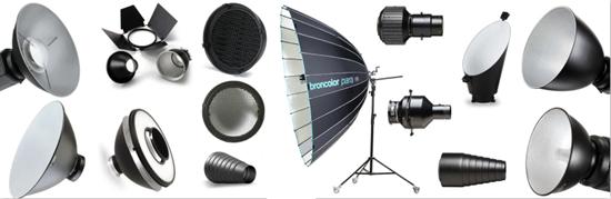 modificatori luce per lampeggiatori da studio fotografia